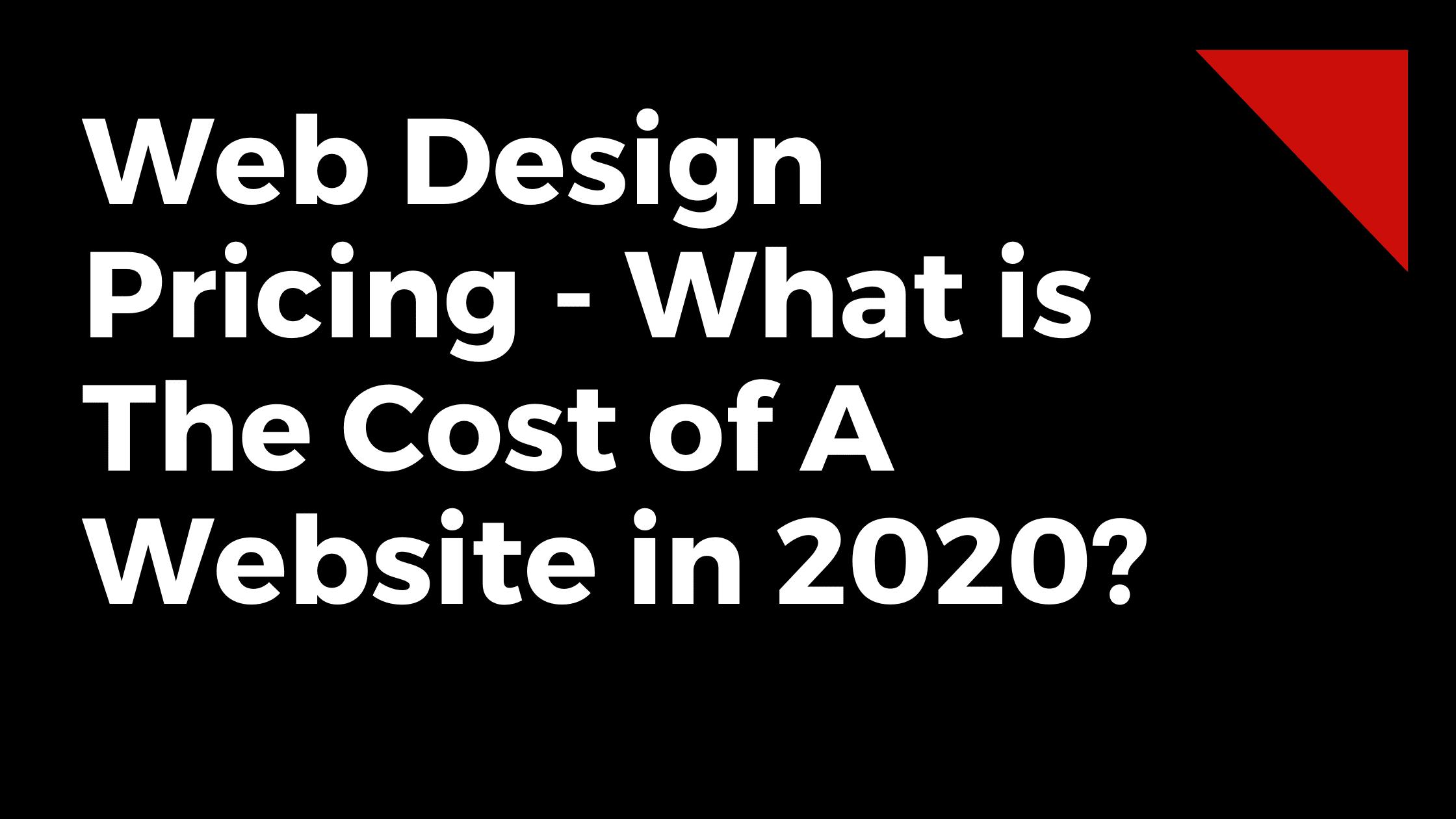 Cost of website in 2021