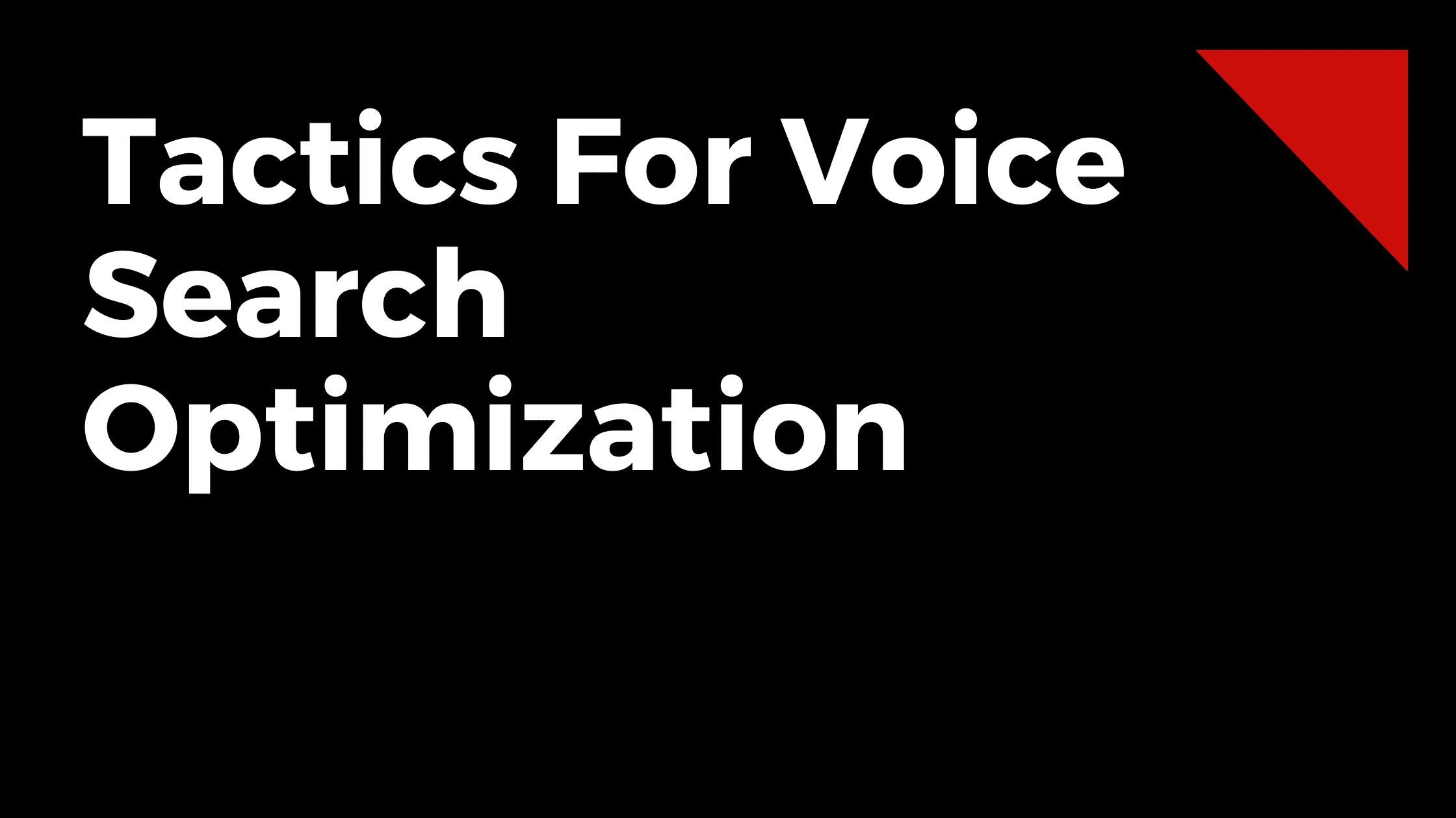 Voice Search SEO Services
