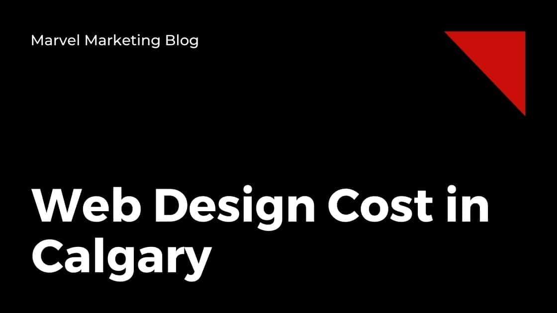 Web Design Cost in Calgary